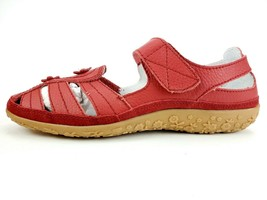 Spring Step Surpass Mary Jane Strap Sandal Red Leather Size 40 W US 9 W - $46.71