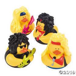 Vinyl Big Hair Rubber Duckies (1 dz)