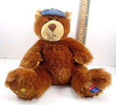 "2007 Boyds Bears American Cancer Daffodil Days 10"" Plush Stuffed W/ Hat Brown - $9.79"