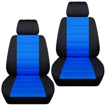 Front set car seat covers fits Chevy Spark  2013-2020   black and med blue - $67.89+
