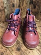 Lands End Rainboots Rubber Boots Size 3 Girls Boys Steel Shank Red - $34.65