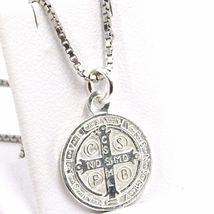 Venetian Chain 50 CM, MEDAL ST. BENEDICT, CROSS, SILVER 925 necklace image 13