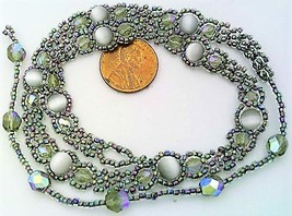 Gray Cat Eye Beaded Daisy Chain Necklace - $10.15