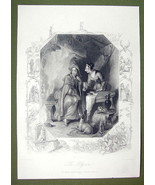 ENGLAND Young Maiden Pilgrim - SUPERB Quality Print Engraving Ornamental... - $16.20