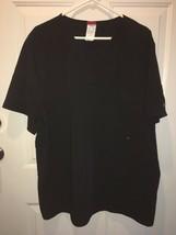New Mens Dickies EDS Signature V-Neck Scrub Top Black Stretchy Soft Comf... - $19.75