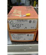 500 Pack 12-10 Gauge Vinyl ring Crimp Terminals 5/16 8mm Stud Tin Copper... - $44.55