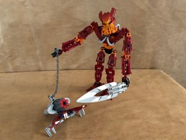 8911 Lego Bionicle Toa Mahri Toa Jaller complete action figure red maroon - $24.50