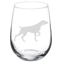 German Shorthaired Pointer Dog Stemmed / Stemless Wine Glass - $14.84+