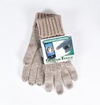 Sensor Touch Gloves by Grandoe, Touchscreen Compatible, Beige Medium Weight - $9.99