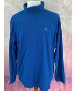 Nike ACG 1/4 Zip Pullover Jacket Shirt Waffle Blue Hiking Long Sleeve Me... - $39.59