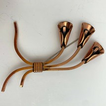 Vintage Renoir Copper Flower Brooch Pin Lily Lillies Signed Modernist - $29.65