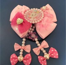 Disney Aristocat Marie pink ribbon Hair Rubber Hair clasp hair ornaments... - $30.69