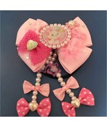 Disney Aristocat Marie pink ribbon Hair Rubber Hair clasp hair ornaments... - $30.69