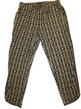 Forever 21 Print Ankle Pants sz L beige & black print - $10.00