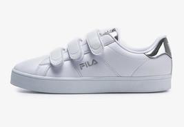 FILA Court Deluxe Shiny VC White Silver Sneakers F1XKZ0502 - $75.99