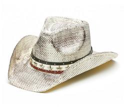 TX-1220 Cowboy Hat TOYO STRAW WESTERN HAT White USA Theme One Size NWT - $42.06