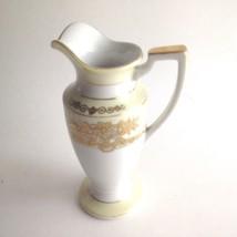"Vintage Hand Painted Noritake Japan Bud Vase Pitcher Gold Trim 6"" Tall - $15.11"