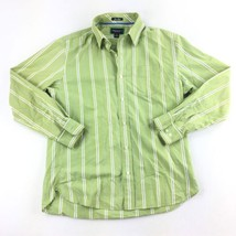 American Eagle Blue Issue Striped Long Sleeve Button Up Shirt Men's Gree... - $469,79 MXN