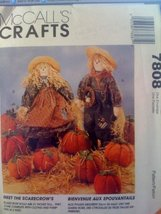 """McCall's Crafts #7808 Girl, Boy 21"""" Scarecrows and Pumpkins in three sizes - $11.76"""