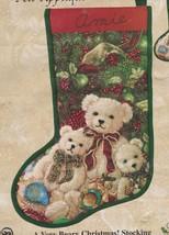 Candamar Very Beary Christmas Quick N Fun Felt Christmas Holiday Stockin... - $39.95