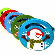 Five Felt Christmas Gift Bags Penguin Snowman Santa Reindeer Gingerbread... - $13.86