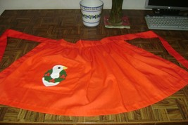 NWOT Nancy's Red Holiday Theme Christmas Goose Appliqué Half Apron Tie B... - $15.59