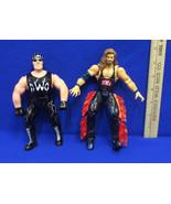Lot 2 Vintage Marvel WCW NWO Wrestling Action Figure Hulk Hogan Kevin Na... - $12.22