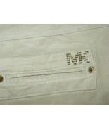 Michael Kors Women's tan beige khaki cords corduroy pants MK logo back pocket-14 - $23.13