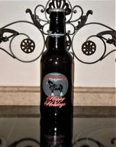 "Budweiser Happy Holidays King Pitcher 15"" Glass Beer Bottle 64 oz Emboss... - $31.67"