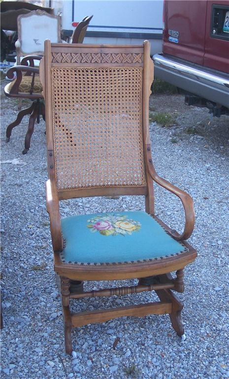 Walnut Eastlake Carved Rocker/Rocking Chair