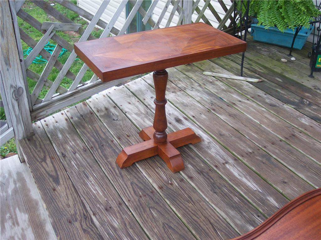 Walnut Marquetry Inlaid Side Table End Table