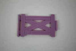 FISHER PRICE Loving Family Dollhouse Stable Replacement Purple Fence - $2.47