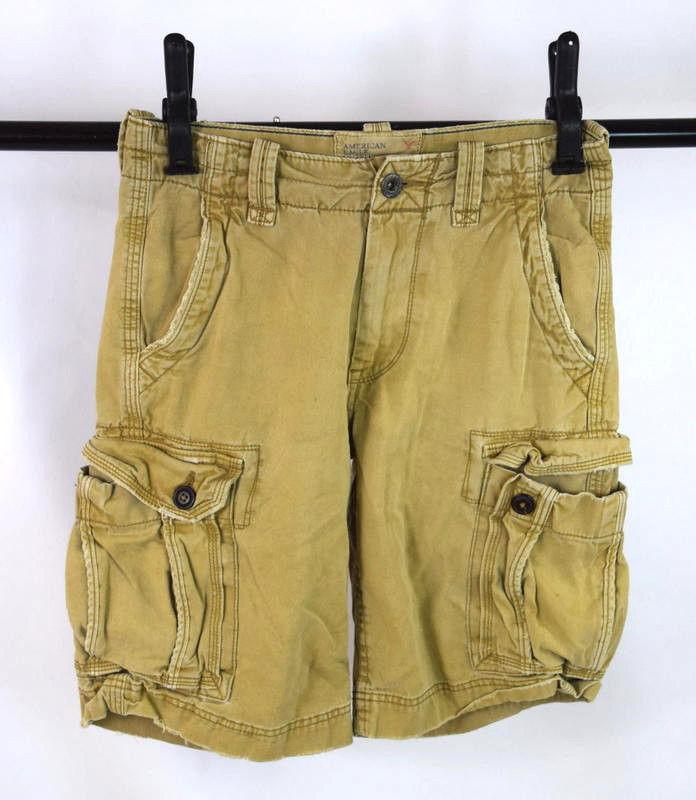 fd61a896dd S l1600. S l1600. Previous. American Eagle Distressed Khaki Tan Cotton Cargo  Utility Shorts Mens Size 28