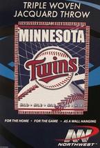"Minnesota Twins 48"" X 60"" Woven Jacquard Afghan Throw Blanket Free Shipping - $16.25"
