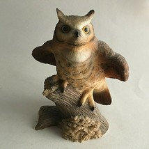"Vintage Owl Bark Branch Ceramic Figurine Statue Collectible 5""X4X3"" Mid ... - $11.68"