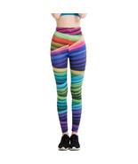 Women's Fitness Leggings Sporting Goods Running Yoga Clothing Pants Funk... - $16.00