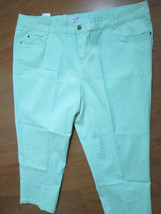 CARIBBEAN JOE LADIES  CAPRI PANTS GREEN SIZE 24... - $20.56