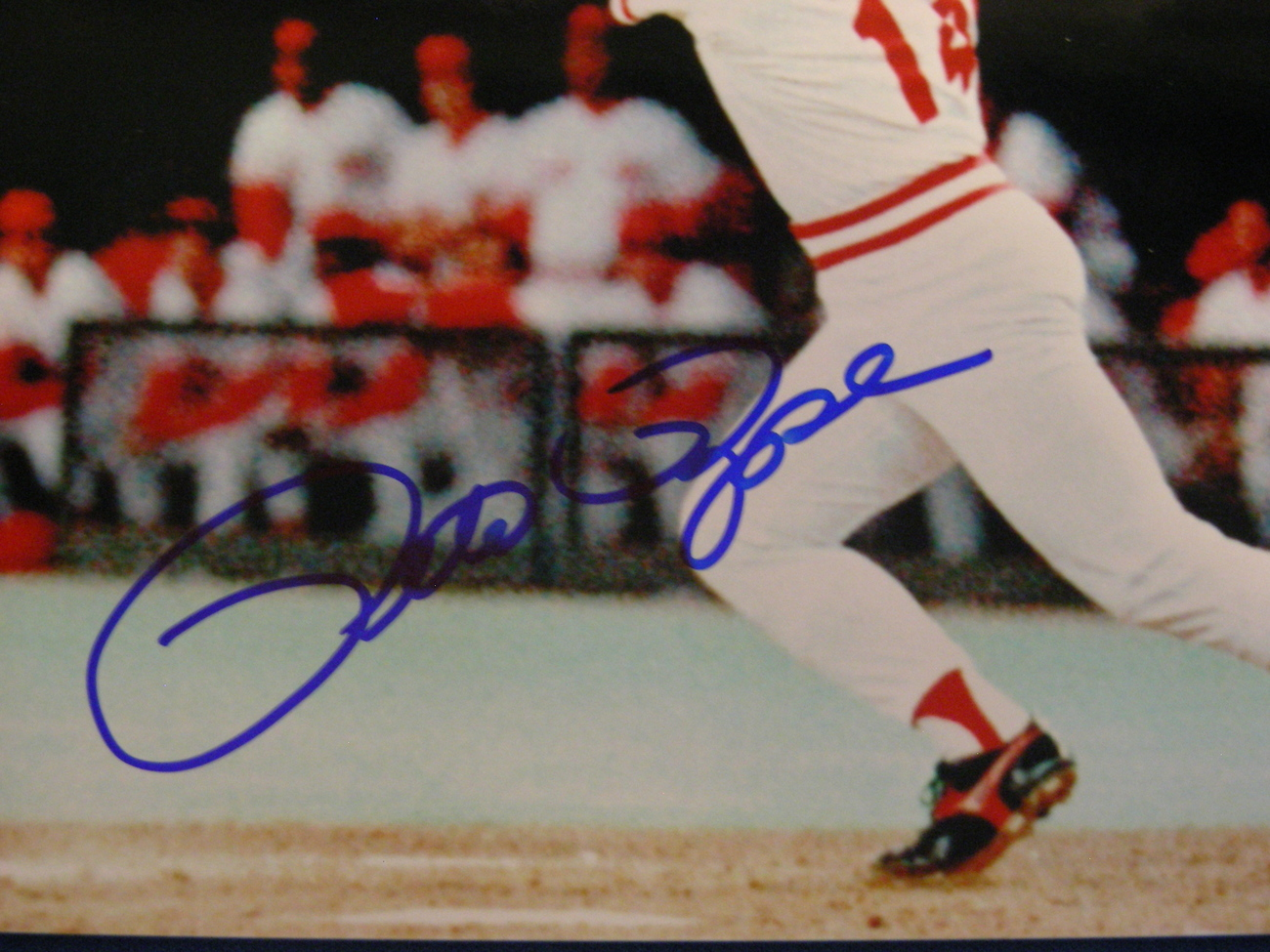 """PETE ROSE """"CHARLIE HUSTLE"""" 4256 HIT KING 3X WSC SIGNED AUTO 8X10 PHOTO GLOBAL"""