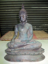 SO Big RARE! Ancient Phra Buddha Pang-Marnvichai U-Thong Era Thai Buddha... - $134.99