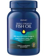 GNC Triple Strength FISH OIL 1000mg EPA/DHA Omega 3s supplement 60 Softg... - $26.00