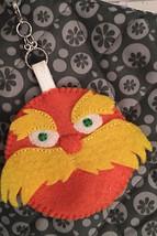 Dr. Seuss's Lorax zipper pull charm-keychain-ba... - $11.50
