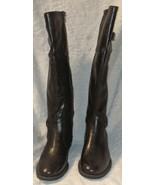 YUU Rocio Dark Brown Knee High Boots With Elastic Gore - $119.99