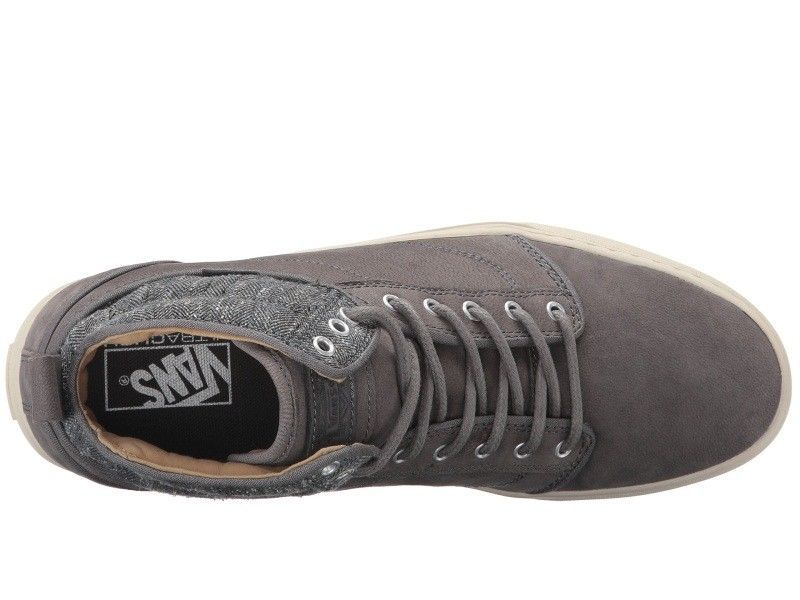 VANS Alomar (Tweed) Gray UltraCush Leather Skate Shoes MEN'S 8 image 6