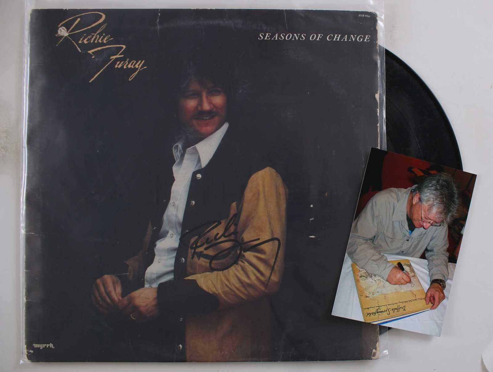 Primary image for Richie Furay Signed Autographed Record Album w/ Proof Photo