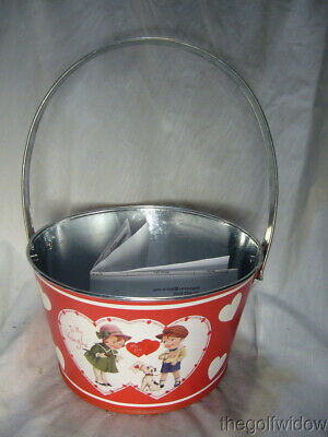 Bethany Lowe Tin Valentine Bucket for Wine or other Gifts