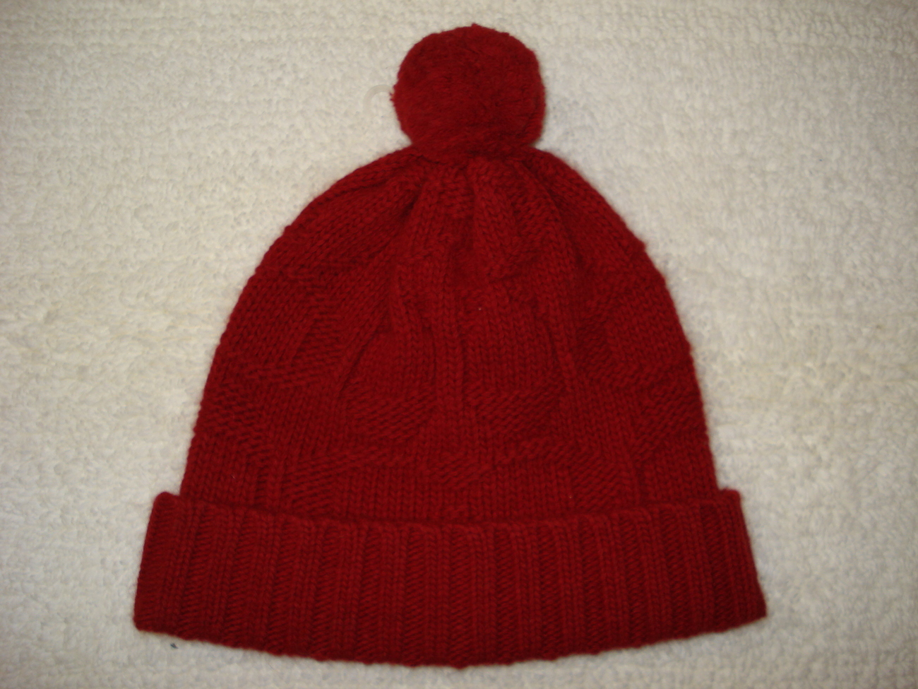 NWT Coach Red Sculpted C Signature Hat Wool/Angora Blend OSFA