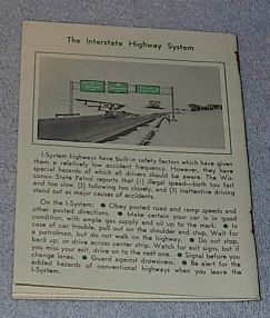 Wisconsin Manual for Motorists Drivers Vehicle 1966