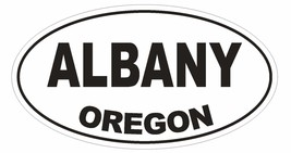 Albany Oregon Oval Bumper Sticker or Helmet Sticker D1646 Euro Oval - $1.39+