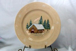 Home 2002 Northwoods Lodge Cabin Dinner Plate - $9.00