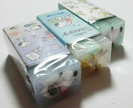 PEANUTS SNOOPY Eraser 3 pieces Cute Rare Cute - $16.70